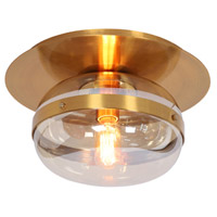 EuroFase 37086-015 Nottingham 1 Light 10 inch Ancient Brass Flush Mount Ceiling Light Small