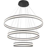 EuroFase 37090-012 Forster LED 60 inch Black Chandelier Ceiling Light