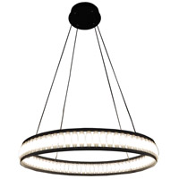 EuroFase 37091-019 Forster LED 28 inch Black Chandelier Ceiling Light Small