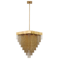 EuroFase 37095-017 Bloomfield LED 29 inch Antique Brush Gold Chandelier Ceiling Light
