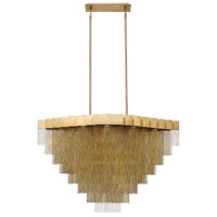 EuroFase 37096-014 Bloomfield LED 29 inch Antique Brush Gold Chandelier Ceiling Light