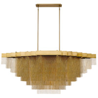 EuroFase 37097-011 Bloomfield LED 29 inch Antique Brush Gold Chandelier Ceiling Light