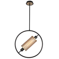 EuroFase 37109-011 Seamore 1 Light 5 inch Black Pendant Ceiling Light Large