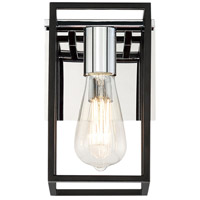 EuroFase 37115-012 Stafford LED 6 inch Chrome/Black Wall Sconce Wall Light