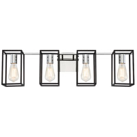 EuroFase 37117-016 Stafford LED 32 inch Chrome/Black Vanity Light Wall Light