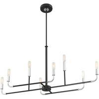 EuroFase 37129-019 Percy LED 12 inch Chrome/Black Chandelier Ceiling Light