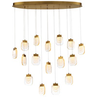 EuroFase 37194-017 Paget LED 14 inch Gold Chandelier Ceiling Light