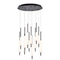 EuroFase 37235-024 Cumberland LED 22 inch Black Chandelier Ceiling Light