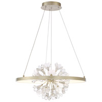 EuroFase 37342-012 Clayton LED 26 inch Silver With Brushed Gold Chandelier Ceiling Light