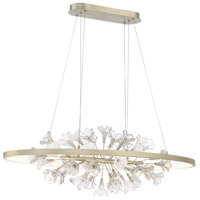 EuroFase 37344-016 Clayton LED 20 inch Silver With Brushed Gold Chandelier Ceiling Light