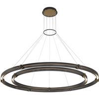 EuroFase 37384-012 Admiral LED 62 inch Matte Black/Gold Chandelier Ceiling Light Large