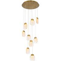 EuroFase 38043-017 Paget LED 20 inch Gold Chandelier Ceiling Light