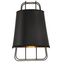 EuroFase 38144-028 Tura 1 Light 10 inch Black Wall Sconce Wall Light