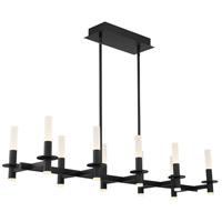 EuroFase 38441-028 Torna LED 13 inch Matte Black Chandelier Ceiling Light