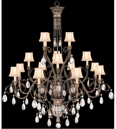 Fine Art Lamps 136740ST A Midsummer Nights Dream 16 Light 57 inch Cool Moonlit Patina Chandelier Ceiling Light photo