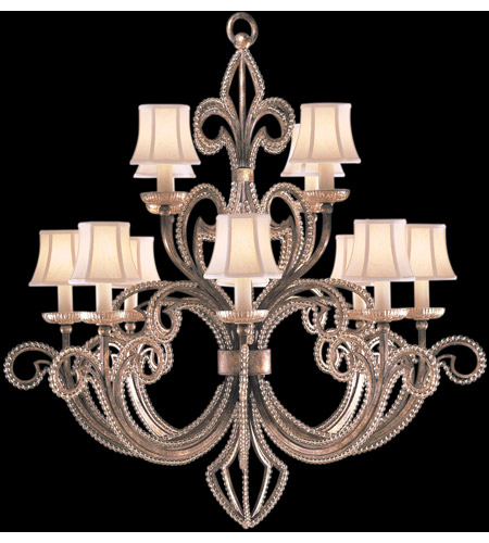 Fine Art Lamps A Midsummer Nights Dream 12 Light Chandelier in Cool Moonlit Patina 137140ST photo