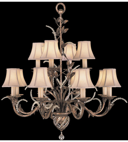 Fine Art Lamps A Midsummer Nights Dream 12 Light Chandelier in Cool Moonlit Patina 138540ST photo