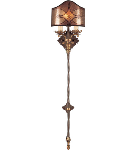 Fine Art Lamps 155950ST Villa 1919 1 Light 10 inch Rich Umber w/ Gilded Accents Sconce Wall Light photo