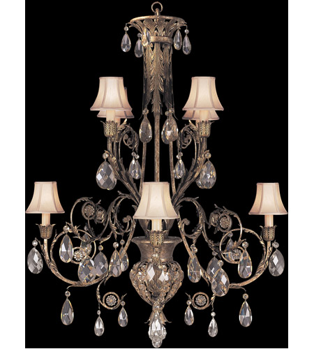 Fine Art Lamps 162740ST A Midsummer Nights Dream 8 Light 38 inch Cool Moonlit Patina Chandelier Ceiling Light photo