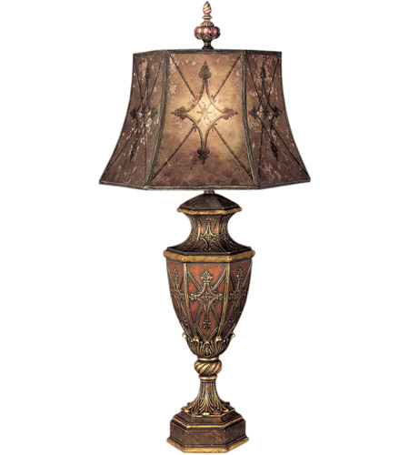 Fine Art Lamps Villa 1919 1 Light Table Lamp in Rich Umber w/ Gilded Accents 167110ST photo