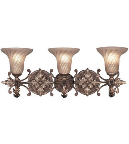 Fine Art Lamps 175550st Stile Bellagio 3 Light 29 Inch Tortoise Leather Le Wall Sconce