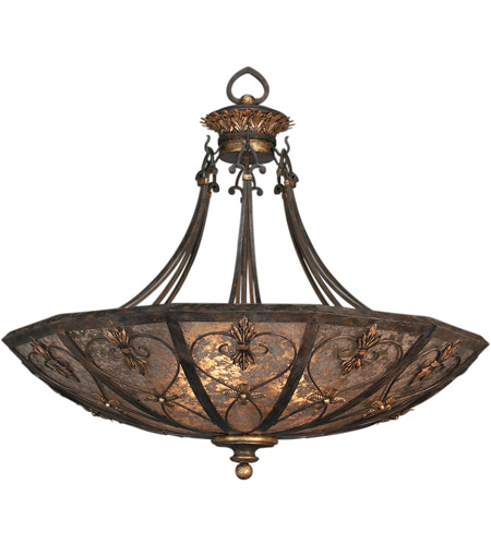 Fine Art Lamps 179942ST Villa 1919 3 Light 43 inch Rich Umber w/ Gilded Accents Pendant Ceiling Light photo
