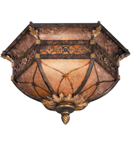 Fine Art Lamps Villa 1919 2 Light Flush Mount in Rich Umber w/ Gilded Accents 182145ST photo
