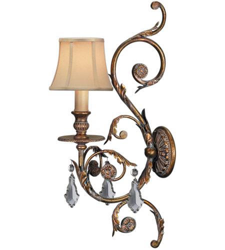 Fine Art Lamps Verona 1 Light Sconce in Antique Veronese Gold 204750ST photo
