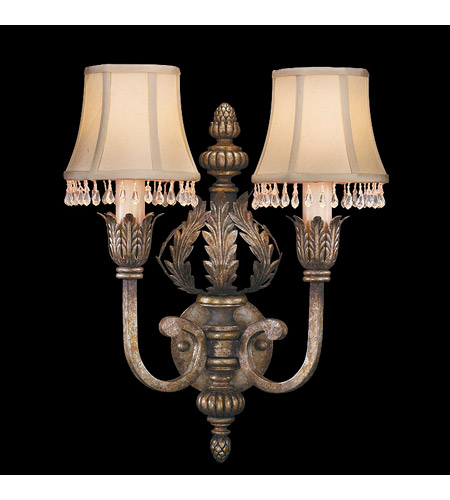 Fine Art Lamps A Midsummer Nights Dream 2 Light Sconce in Cool Moonlit Patina 213350ST photo