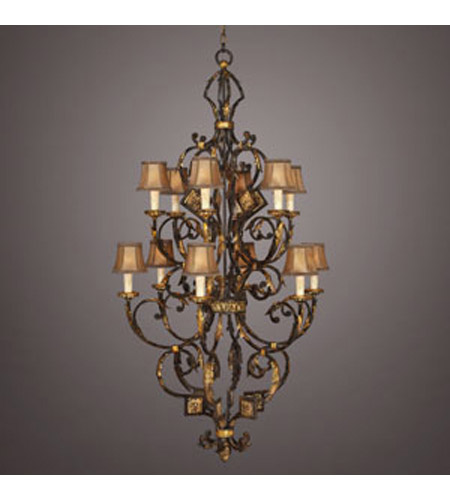 Fine Art Lamps Castile 12 Light Chandelier in Warm Antiqued and Gold Leaf 234040ST photo