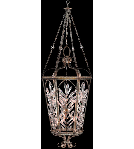 Fine Art Lamps Winter Palace 10 Light Pendant in Warm Antiqued Silver 301140ST photo