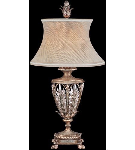 Warm Antiqued Silver Table Lamps