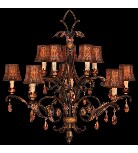 Fine Art Lamps Brighton Pavillion 10 Light Chandelier in Bronzed Sienna 303940ST photo
