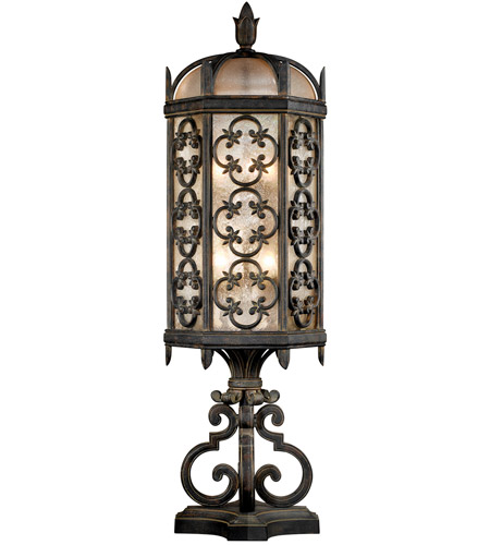 Fine Art Lamps 324980ST Costa del Sol 3 Light 33 inch Marbella Wrought Iron Outdoor Pier Mount photo