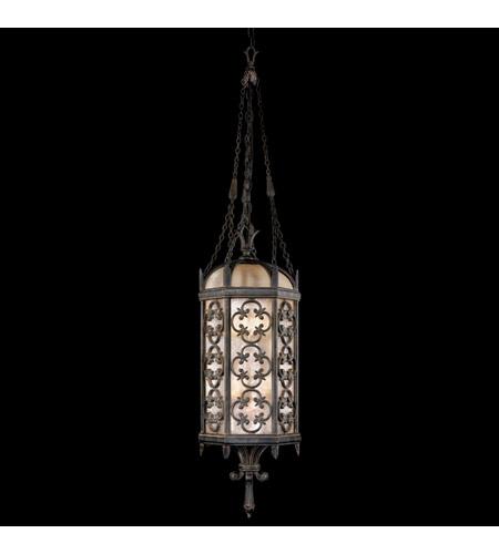 Fine Art Lamps Costa del Sol 6 Light Outdoor Lantern in Marbella Wrought Iron 325182ST photo