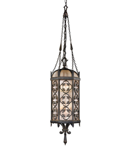 Fine Art Lamps Costa del Sol 4 Light Outdoor Lantern in Marbella Wrought Iron 325282ST photo