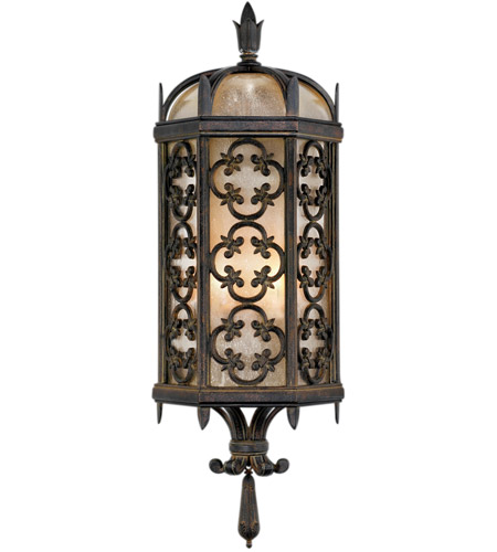 Fine Art Lamps Costa del Sol 2 Light Outdoor Coupe in Marbella Wrought Iron 329681ST photo