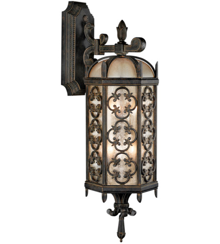 Fine Art Lamps Costa del Sol 3 Light Outdoor Wall Mount in Marbella Wrought Iron 338381ST photo