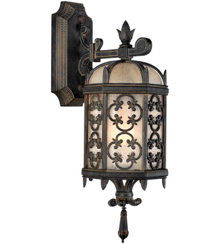 Fine Art Lamps 338581st Costa Del Sol 1 Light 20 Inch Wrought Iron Outdoor Wall Sconce