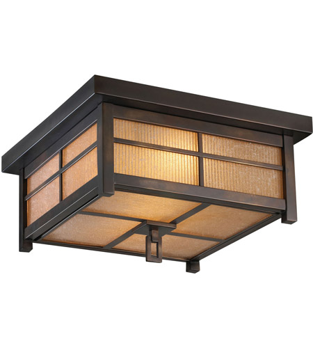 Fine Art Lamps Capistrano 2 Light Outdoor Flush Mount in Warm Bronze Patina 401080ST photo
