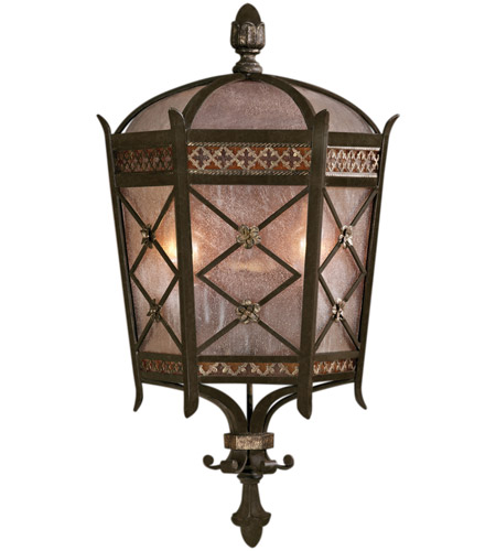 Fine Art Lamps Chateau Outdoor 2 Light Outdoor Coupe in Variegated Rich Umber Patina 402781ST photo