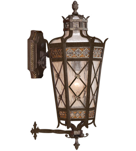 Fine Art Lamps 403481ST Chateau Outdoor 4 Light 32 inch Variegated Rich Umber Patina Outdoor Wall Mount photo