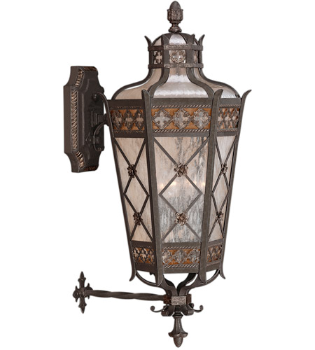 Fine Art Lamps 403681ST Chateau Outdoor 4 Light 37 inch Rich Umber Patina With Gold Accents Outdoor Wall Sconce photo thumbnail