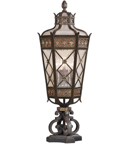 Fine Art Lamps 403983ST Chateau Outdoor 5 Light 35 inch Variegated Rich Umber Patina Outdoor Pier Mount  photo