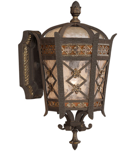 Fine Art Lamps 404781ST Chateau Outdoor 1 Light 15 inch Variegated Rich Umber Patina Outdoor Wall Mount photo
