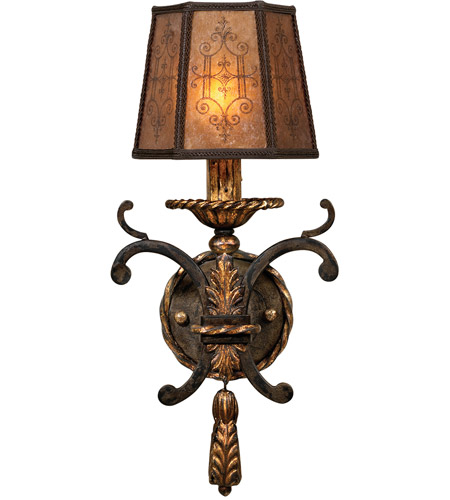 Fine Art Lamps Epicurean 1 Light Sconce in Charred Iron 406850ST photo