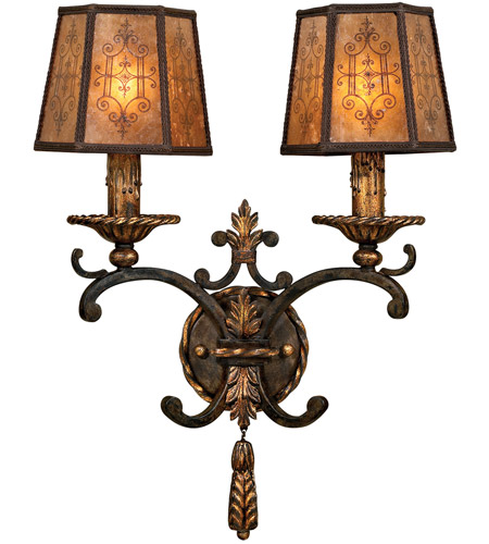 Fine Art Lamps 406950ST Epicurean 2 Light 17 inch Charred Iron Sconce Wall Light photo