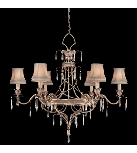 Fine Art Lamps 407040ST Pastiche 6 Light 42 inch Platinized Silver Chandelier Ceiling Light photo