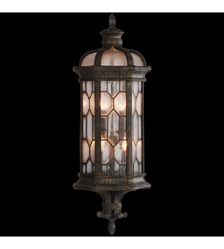 Fine Art Lamps 414981ST Devonshire 3 Light 28 inch Antiqued Bronze Outdoor Coupe photo