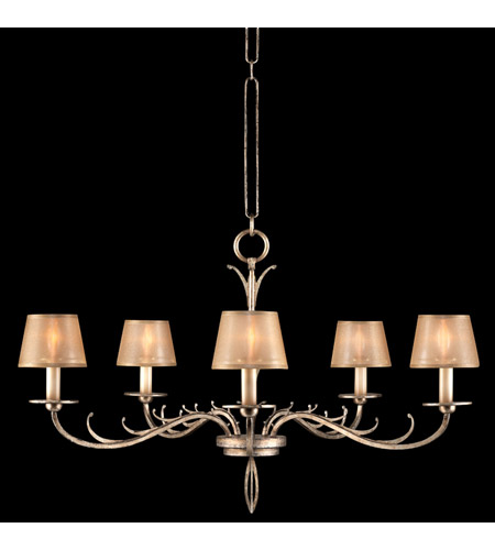 Fine Art Lamps 418740ST Portobello Road 5 Light 35 inch Platinized Silver Chandelier Ceiling Light photo